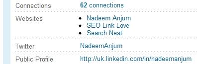 LinkedIn Link to Public Profile Screenshot